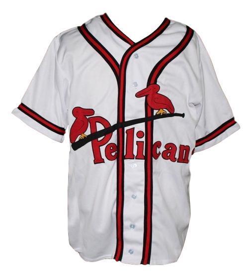Custom name   new orleans pelicans baseball jersey white   1