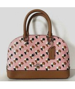 New Coach 25916 mini Sierra Satchel Checkers Heart PVC print handbag Blush multi - $119.00