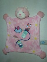 Taggies Mary Meyer Pink Lovey Blanket KITTY CAT Mouse Fleece Baby Security - $59.39
