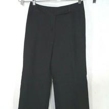 Ann Taylor Loft Laura Dress Pants Women Size 4 Black Linen Rayon Lined C... - $19.79