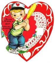 Vintage Gibson 3-D Valentine Card - Baseball Batter - $15.99