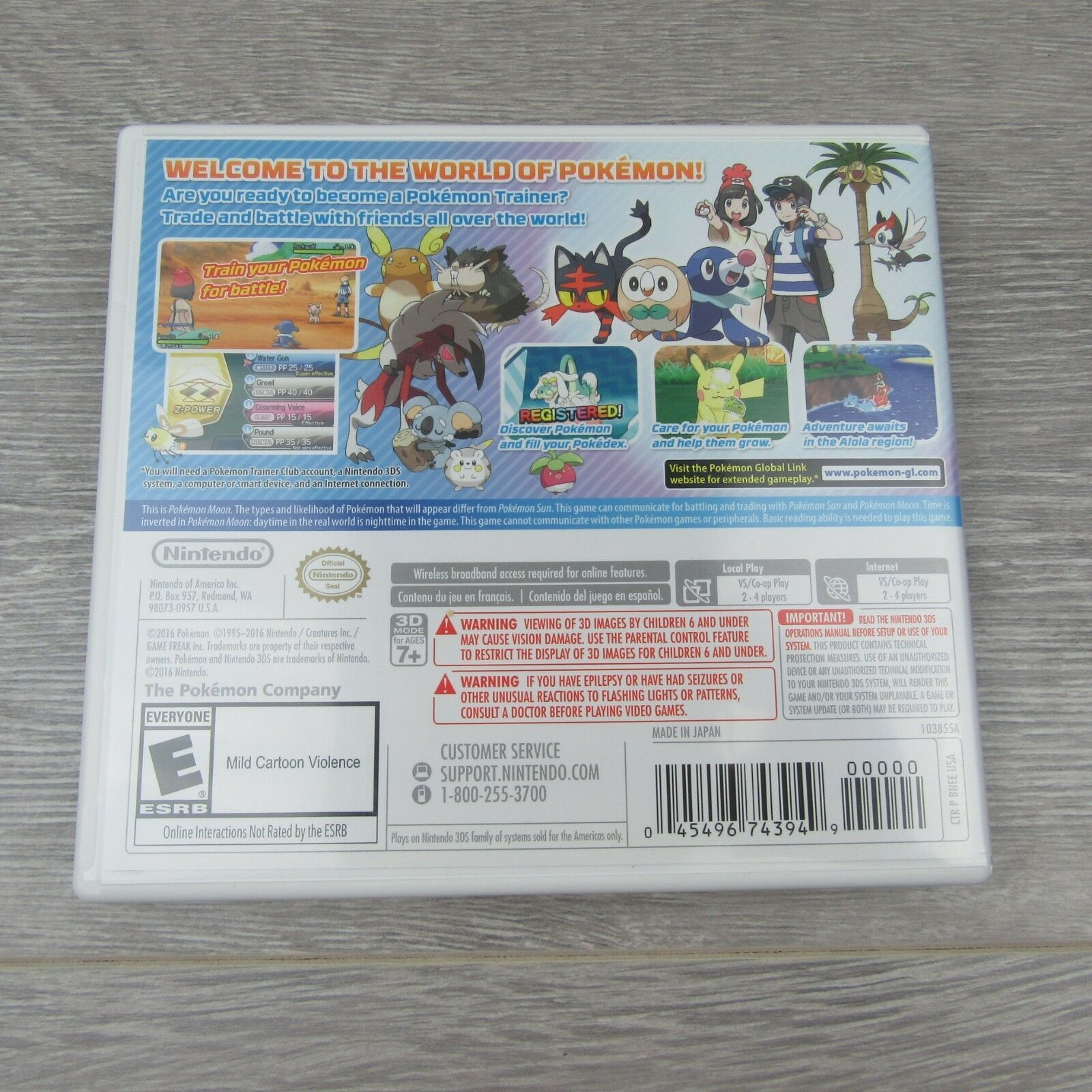 Pokemon Moon Nintendo 3DS 2016 Video Game Complete & Tested