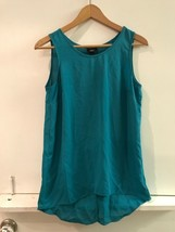 Mossimo Green Split Back High-Low Sleeveless Tank Top S Small - $12.95