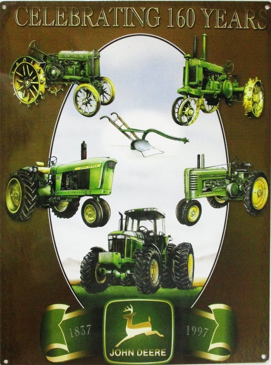 Primary image for John Deere Celebrating 160 Years Metal Sign