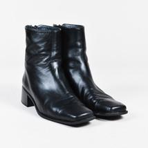 Stuart Weitzman Black Leather Heeled Platform Ankle Boots SZ 7 - $235.00