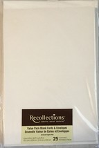 """Recollections Value Pack 4 x 5.5"""" Blank Cards & Envelopes 25 count Ivory - $7.99"""