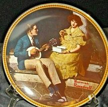 """""""Pondering on the Porch"""" by Norman Rockwell Plate with Box AA20-CP2220B Vintage image 6"""