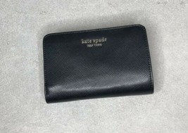 Kate Spade Women's Spencer Compact Bifold Durable Wallet Black *flaw* - $47.52