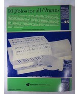 90 Organ Solos For All Organs Vintage Songbook  - $9.89