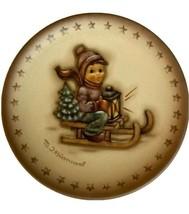 M.I. HUMMEL Porcelain 2.25 inch Ride Into Christmas Mini Plate FREE SHIP... - $15.79