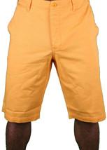 Hawke & Dumar Tab Detail Twill Rustic Orange Walk Summer Shorts HD1250503 NWT image 1