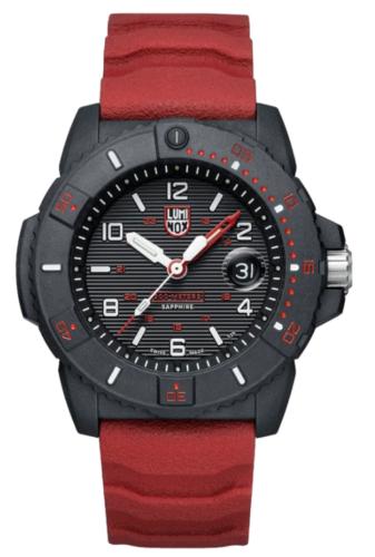 Luminox Men's Watch Navy SEAL Magnifying    Glass 3615    Black/Red    NEW