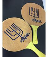 2 Original Israeli Beach Sport Matkot Paddles TING-DONG Wood Game Kids A... - $19.79