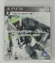 Tom Clancys Splinter Cell Blacklist PS3 Spy Action Video Game Disk & Cas... - $11.99