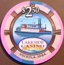 $2.50 Casino Chip. Lakeside, Osceola, IA. V27. - $5.50
