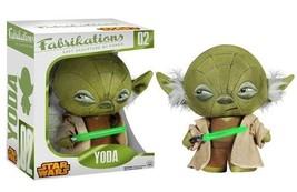 Classic Star Wars Yoda Lightsaber Fabrikations Plush Figure Toy #2 FUNKO NEW MIB - $16.40