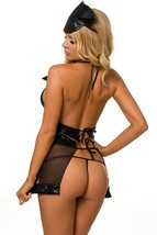 Frisky Black Matron Cops And Robbers Cosplay Deluxe Costume Set image 5