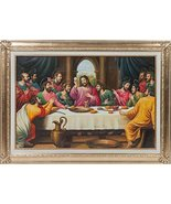 Hand-Painted Oil Painting on Canvas Framed in Gold Leaf Wood. - $242.28
