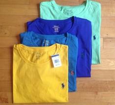 Polo Ralph Lauren Men Crew Neck T-Shirt Classic Standard Fit Short Sleeve NWT - $21.99