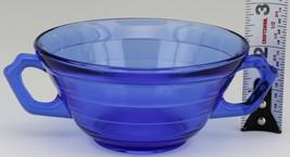 Hazel Atlas Cobalt Blue Moderntone Depression Glass Cream Soup image 2