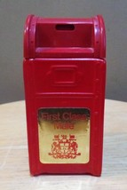 """Vintage Avon Red """"FIRST CLASS MALE"""" Canadian Mailbox BOTTLE Decanter~Mt - $14.00"""