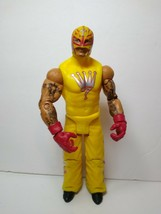 "WWE Rey Mysterio 2011 Yellow Attire 6 1/4"" Wrestling Figure 619 Mattel Toy - $9.89"