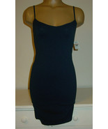 Intimately Free People Dark Blue Navy Chemise Slip Stretch Made USA-XS/S... - $16.34