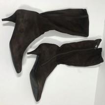 Prada Bottes pour Femmes 37.5 Daim Marron 6.3cm SR2 - $81.38