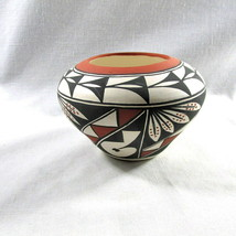 "Acoma Pot SW Pottery Signed Romero 3"" Handpainted OOAK New Mexico Collec... - $42.48"