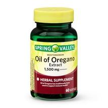 Spring Valley Mediterranean Oil of Oregano Extract Softgels, 1,500 mg, 6... - $15.83