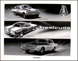 1962 Dodge Dart Max Wedge Race Art Print Lithograph, 1970 Barracuda Belvedere - $16.47