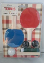 Desktop Tennis Game Ping Ping Table Top Desk Kitchen or Dining Table Set Up - $14.38