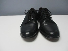 COLE HAAN Black Lace Up Closed Rounded Toe Solid Dress Shoes B3353 - $39.62
