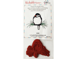Great Impressions Stickable Rubber Cling Stamp Bird on Branch #G28S