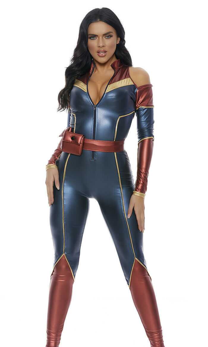 Forplay Space Soldier Superhero Captain Marvel Adult Halloween Costume 559610 image 3