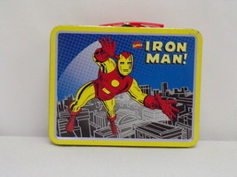 ORIGINAL Vintage 1998 Marvel Iron Man Metal Lunch Box   - $37.04