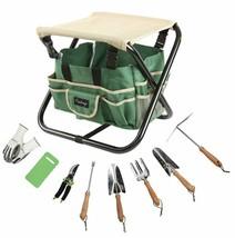 Finnhomy 10 Piece All-In-One Garden Tool Set Garden Folding Stool Seat W... - $50.06
