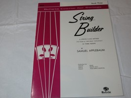 Belwin Course for Strings: String Builder : Bass Book Three 1985 Paperback - $11.87