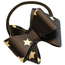 Fashion Hair Bands Bowknot Hair Rope Hair Accessories(Black Stars)
