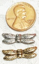 DRAGONFLY WINGS FINE PEWTER BEAD - 21mm L x 6mm W x 3mm D - Hole 1mm image 2