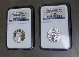 2007 W 10th Anniversary Platinum American Eagle Set NGC PF70 / PF-70