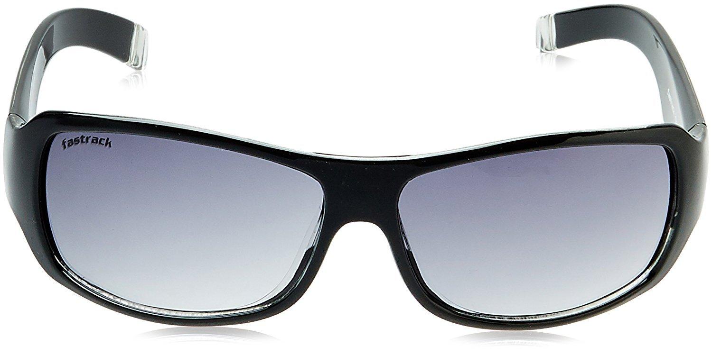 Fastrack UV Protection Wrap Men's Sunglasses (P089BK1|61|Multi-Color)