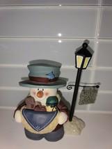 "Christmas Snowman ""Just Say Snow"" Light Post Vintage Decoration - $4.95"