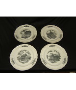 Wedgwood Federal City Plates 10-1/2in Diameter Set of 4 Vintage China - $57.49