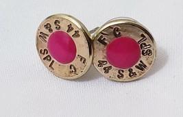 Bullet Slice 44 SPL Earring studs, glows light pink in the dark cute cut... - $23.27