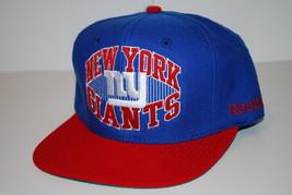 New York GIANTS- Reebok Nfl Flatbrim Snapback Football Cap - Osfm - $19.90