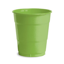 12 oz Solid Plastic Cups Fresh Lime/Case of 240 - $55.88