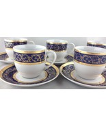 Thun Czech Republic SYDNEY set of (13) cups / saucers FREE SHIPPING - $170.00
