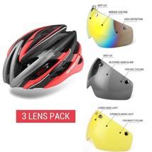 Unisex Bicycle Helmet Cycling Glasses 3 Len Integrally Mountain Road Bik... - $66.29