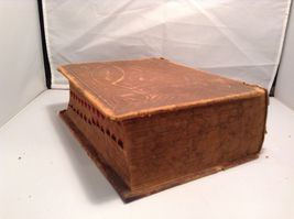 Antique Leather Bound Webster Dictionary  image 4